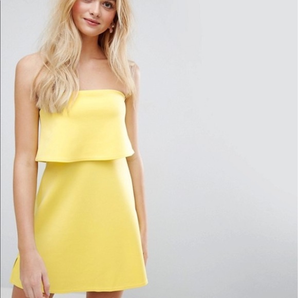 7968717bc3 ASOS Dresses   Skirts - ASOS yellow tube top dress